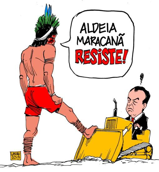 CHARGE DO LATUFF: ALDEIA MARACANÃ RESISTE