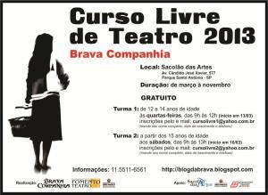flyer curso teatro